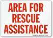 Area For Rescue Assistance Sign