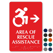 Area Of Rescue Assistance ISA Symbol Right Arrow Sign