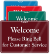 Ring Bell for Customer Service Showcase Wall Sign