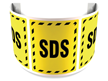180 Degree Projecting SDS Sign with striped border