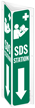 SDS Station 2-Sided Projecting Sign With Down Arrow