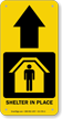 Shelter In Place Ahead Arrow Sign