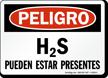 H2S Pueden Estar Presentes, Spanish H2S Present Sign