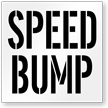 Speed Bump Pavement Stencil