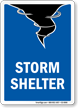 Storm Shelter Emergency Sign with Graphic