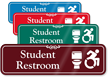 Student Restroom Toilet And New ISA Symbol Sign