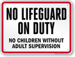 Tennessee No Lifeguard On Duty Pool Sign