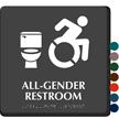 All-Gender Restroom Sign, New ISA, Toilet Symbol