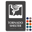 Tornado Shelter Tactiletouch Braille Sign