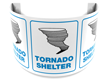180 Degree Projecting Tornado Shelter Sign with graphic
