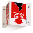 Tornado Shelter Projecting Sign