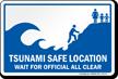 Tsunami Safe Location Sign
