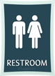 Restroom, Unisex, 11.375 in. x 8.375 in. Sign