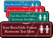 Boys / Girls Unisex Restroom Symbol Sign