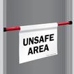 Unsafe Area Door Barricade Sign