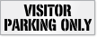 Visitor Parking Only Stencil