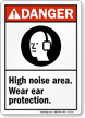 High Noise Area Wear Ear Protection Sign