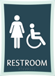 Restroom, Women/Handicapped, 11.375 in. x 8.375 in. Sign