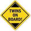 Twins On-Board Car Hang Tag and Label