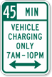 Custom Vehicles Charging Only Time Limit Sign