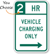 Vehicle Charging Right Arrow Hour Limit Sign