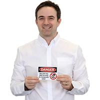 Custom OSHA Danger Non-Potable Water Sign