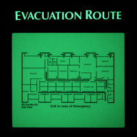 Glow Evacuation Map Sign