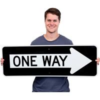One Arrow One Way (Symbol) Traffic Sign
