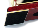 Name plate has a polished finish and felt on the base that offers a no-scratch feature for your desk.