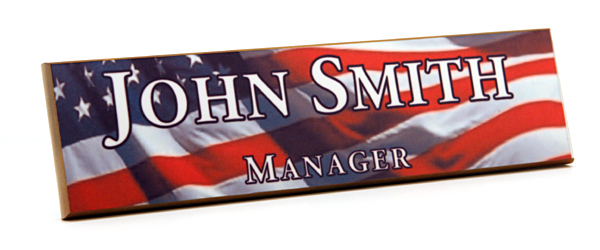 Add some color to your nameplates; your name and title come alive with one of our eye-catching backgrounds.