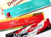 Colored nameplates help you stand out from the crowd.