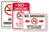Free No Smoking Signs