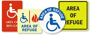 Area For Evacuation Assistance Signs