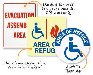 Area of Refuge Signs