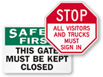 Big Gate Signs