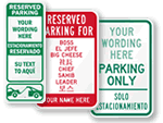Bilingual Custom Parking Signs