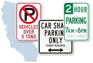 California Parking Signs, Fire Lane Signs and Other Regulated Signs