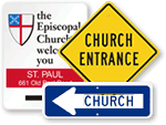 Church Road Signs