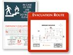 Custom Evacuation Map Holders