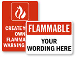 Flammable Warning Signs