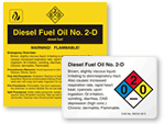 Diesel Fuel Labels