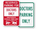 Doctor Parking Sign