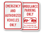 EMS & Ambulance Parking Signs