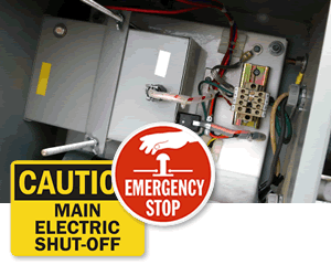 Electric Shut Off Signs