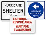 Earthquake & Hurricane Signs