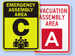 Evacuation Area Signs