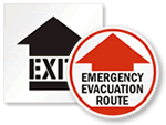 Evacuation Floor Signs & Stencils