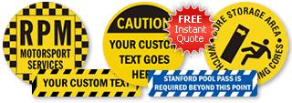 Custom Floor Sign Quote