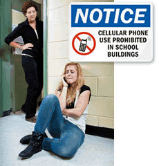 No Cell Phone Signs for Schools