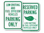 Fuel Efficient Parking Signs and ZEV Parking Signs